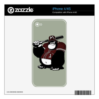 The Gorilla Baseball Club Skin For The iPhone 4S
