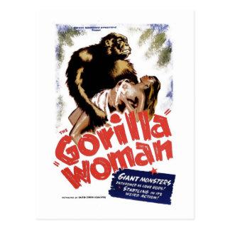 The Gorilla Woman Postcard