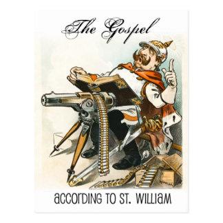The Gospel according to St. William Postcard