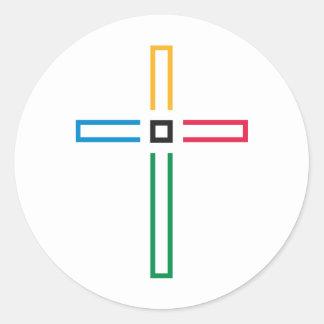 The Gospel Cross Round Stickers