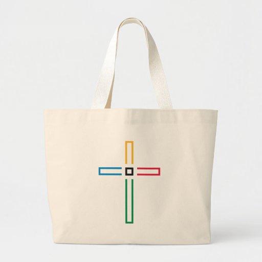 The Gospel Cross Tote Bags
