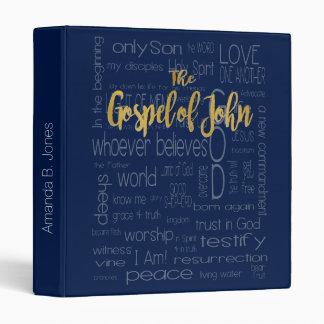 The Gospel of John, Navy Blue Binder