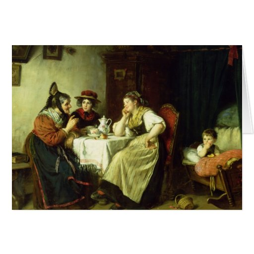 The Gossips, 1887 Cards
