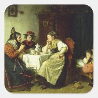 The Gossips, 1887 Square Sticker