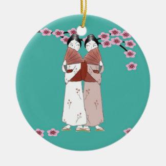 The Gossips Ornament