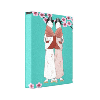 The Gossips Wrapped Canvas Print