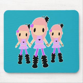 The Goth Loli Triplets Mousepad