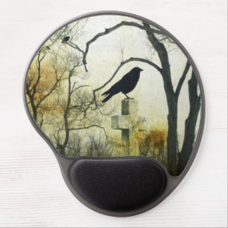 The Gothic Crow Gel Mouse Pad