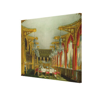The Gothic Dining Room at Carlton House from Pyne' Canvas Print