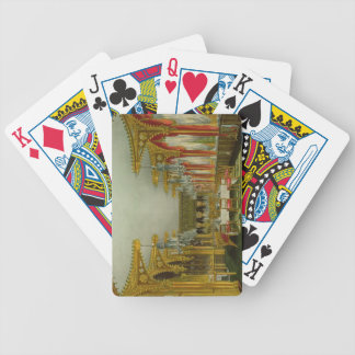 The Gothic Dining Room at Carlton House from Pyne' Bicycle Card Deck