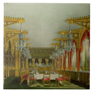 The Gothic Dining Room at Carlton House from Pyne' Tile