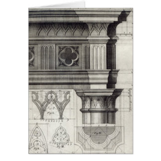 The Gothic Entablature Greeting Card