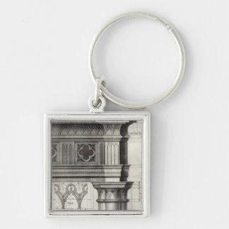 The Gothic Entablature Keychain