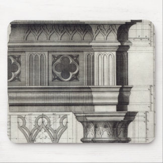 The Gothic Entablature Mouse Pad