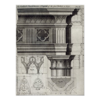 The Gothic Entablature Poster