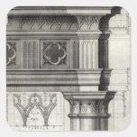 The Gothic Entablature Square Sticker
