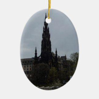 The Gothic Scott Monument in Edinburgh Christmas Tree Ornament