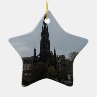 The Gothic Scott Monument in Edinburgh Christmas Ornament