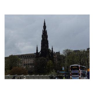 The Gothic Scott Monument in Edinburgh Postcard
