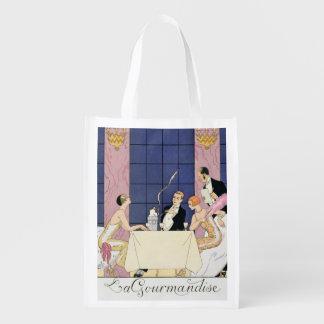 The Gourmands, 1920-30 (pochoir print) Grocery Bag