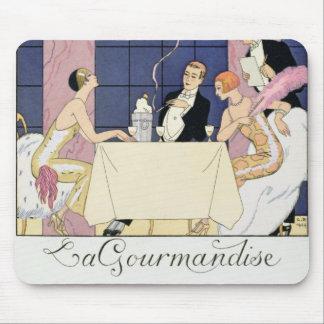 The Gourmands, 1920-30 (pochoir print) Mouse Pad