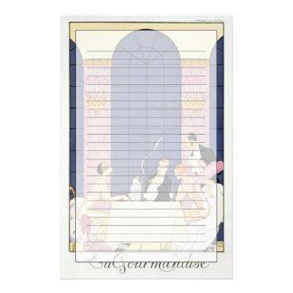 The Gourmands, 1920-30 (pochoir print) Stationery