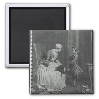 The Governess, 1739 2 Inch Square Magnet