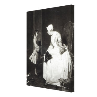 The Governess, 1739 Gallery Wrap Canvas