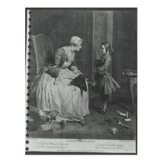The Governess, 1739 Postcard
