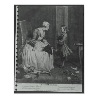 The Governess, 1739 Print