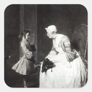 The Governess, 1739 Square Sticker