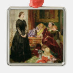 The Governess, 1860 (oil on canvas) Ornament