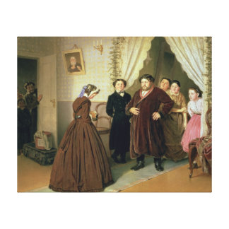 The Governess Arriving at the Merchant's House Canvas Print
