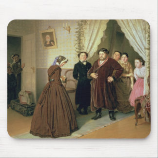 The Governess Arriving at the Merchant's House Mouse Pad