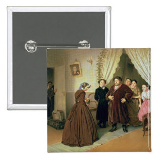 The Governess Arriving at the Merchant's House Pinback Button