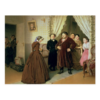 The Governess Arriving at the Merchant's House Postcard