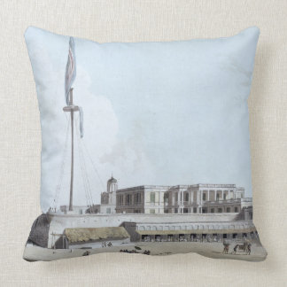 The Government House, Fort St. George, plate 35 fr Throw Pillow