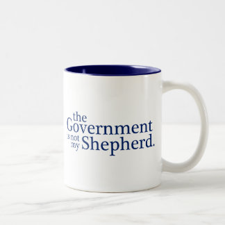 The Government Not My Shepherd. Two-Tone Coffee Mug