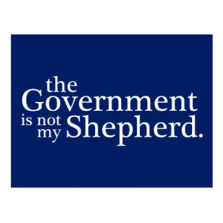 The Government Not My Shepherd. Postcard