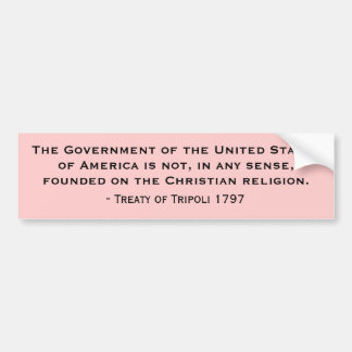 The Government of the United States of America Car Bumper Sticker