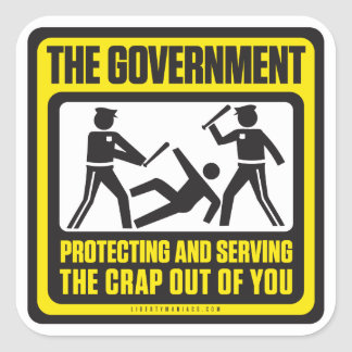 The Government Shirt Square Sticker