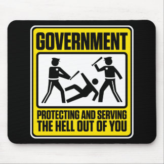The Government Warning Mouse Pad