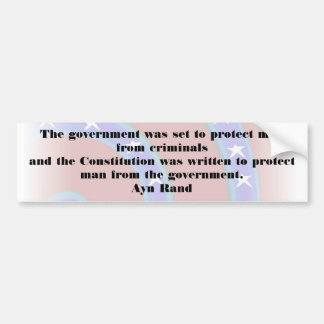 The government was set to protect man Bumper Car Bumper Sticker