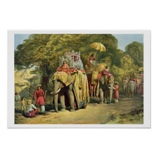 The Governor-General's State Howdah, 1863 (chromol Print