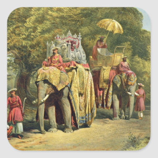 The Governor-General's State Howdah, 1863 (chromol Square Stickers