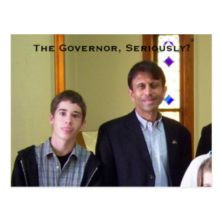 The Governor Seriously - - postcard