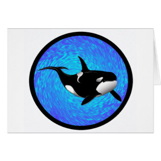THE GRACEFUL ORCA GREETING CARD