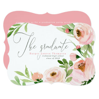 THE GRADUATE BLUSH WATERCOLOR FLORAL CARD