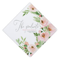 THE GRADUATE BLUSH WATERCOLOR FLORAL GRADUATION CAP TOPPER
