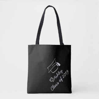 The Graduate Class Year Custom Name Personalized Tote Bag